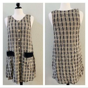 vintage 90s plaid CAROLE LITTLE grunge dress 12